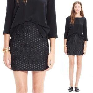 Madewell Metallic Quilted Shirttail Skirt